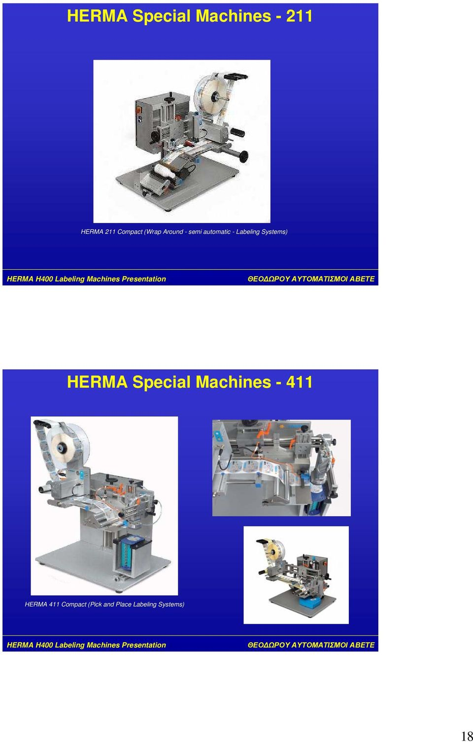 Labeling Systems) HERMA Special Machines -