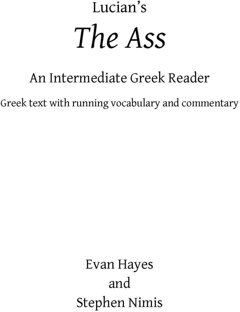 Greek text with running