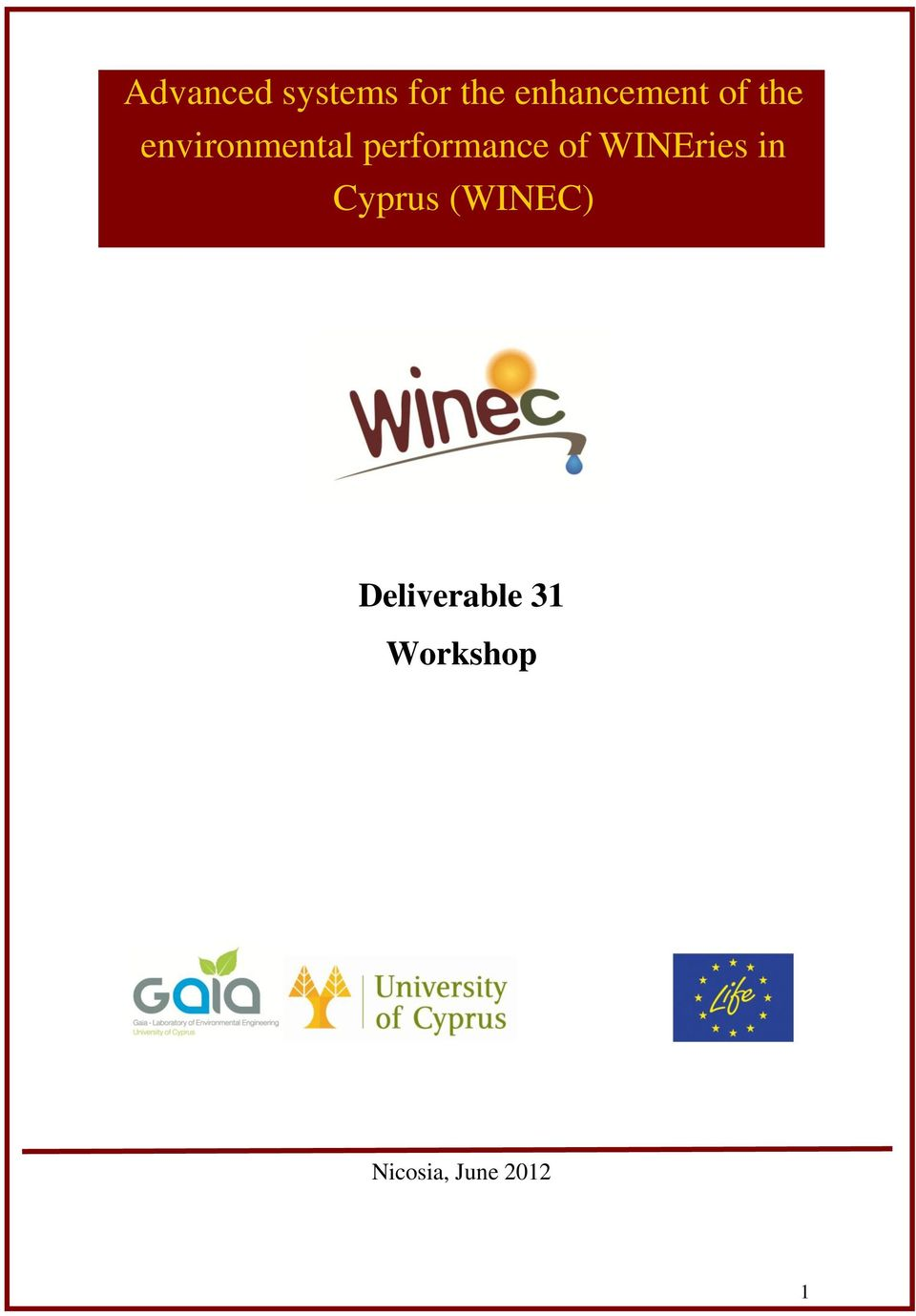 performance of WINEries in Cyprus