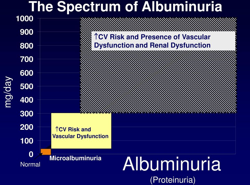 Dysfunction Microalbuminuria CV Risk and Presence of
