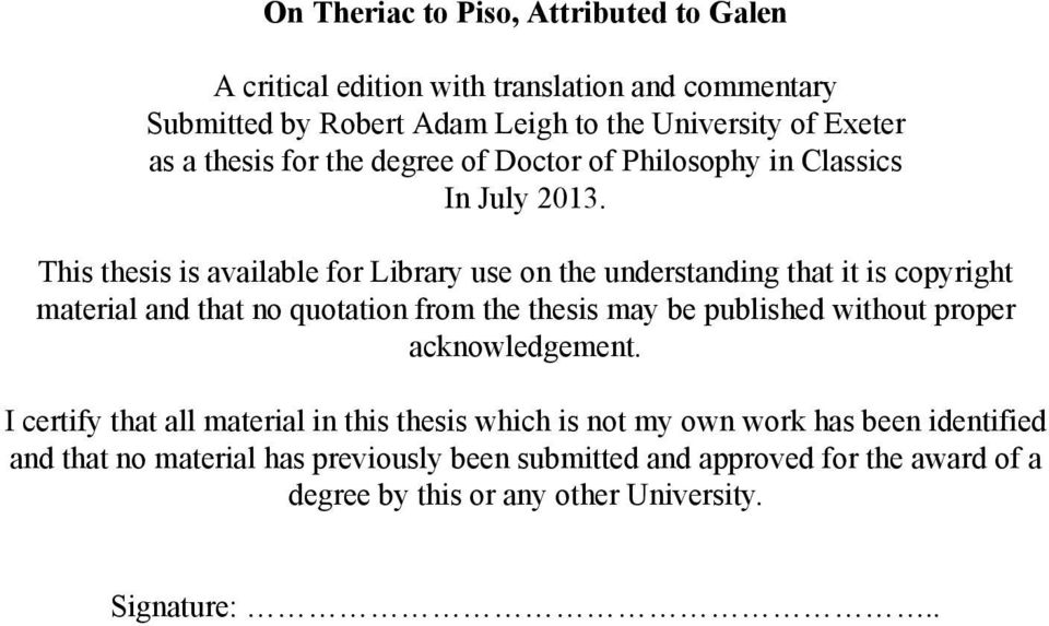 This thesis is available for Library use on the understanding that it is copyright material and that no quotation from the thesis may be published without