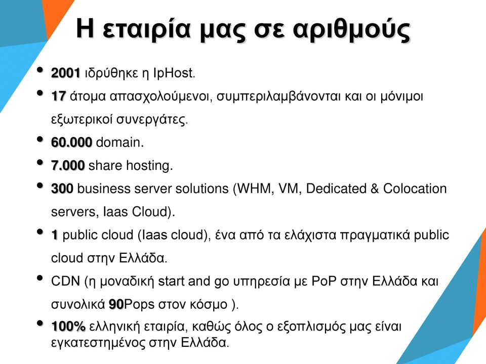 300 business server solutions (WHM, VM, Dedicated & Colocation servers, Iaas Cloud).
