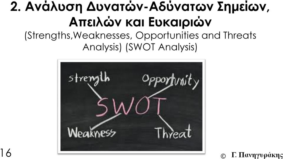 (Strengths,Weaknesses,