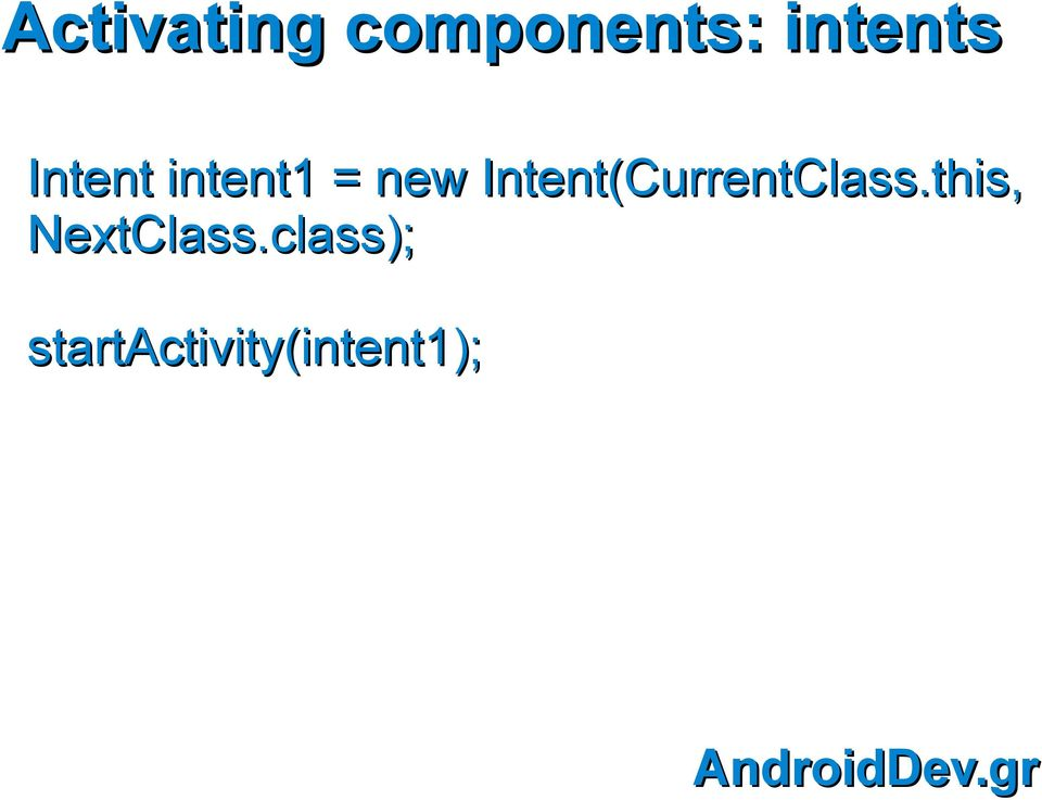 Intent(CurrentClass.