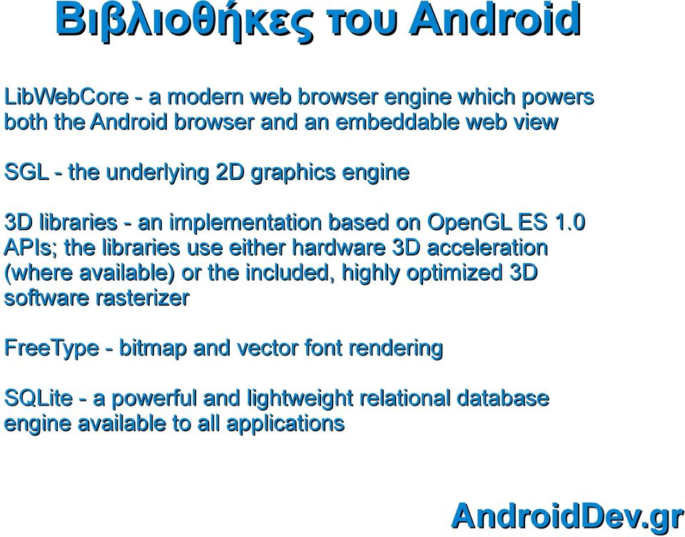 0 APIs; the libraries use either hardware 3D acceleration (where available) or the included, highly optimized 3D software