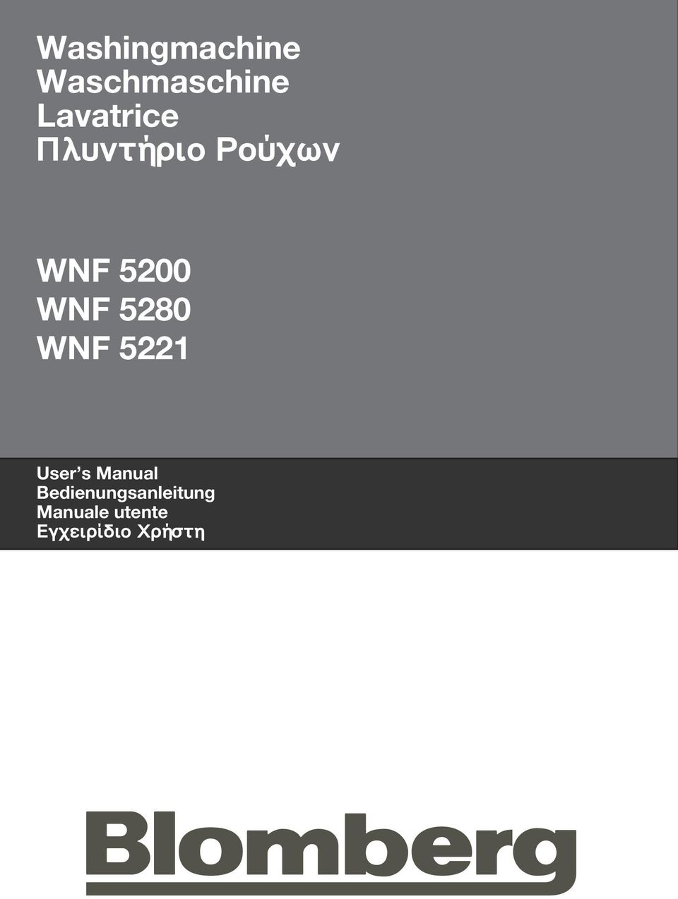 WNF 5280 WNF 5221 User s Manual