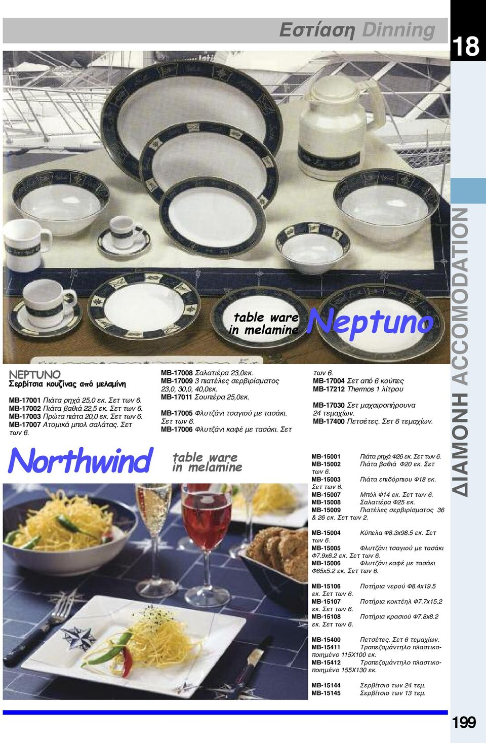 MB-17006 Φλυτζάνι καφέ με τασάκι. Σετ table ware in melamine table ware in melamine Neptuno των 6. MB-17004 Σετ από 6 κούπες MB-17212 Thermos 1 λίτρου MB-17030 Σετ μαχαιροπήρουνα 24 τεμαχίων.