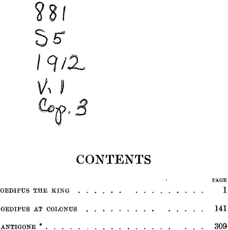 3 CONTENTS PAGE
