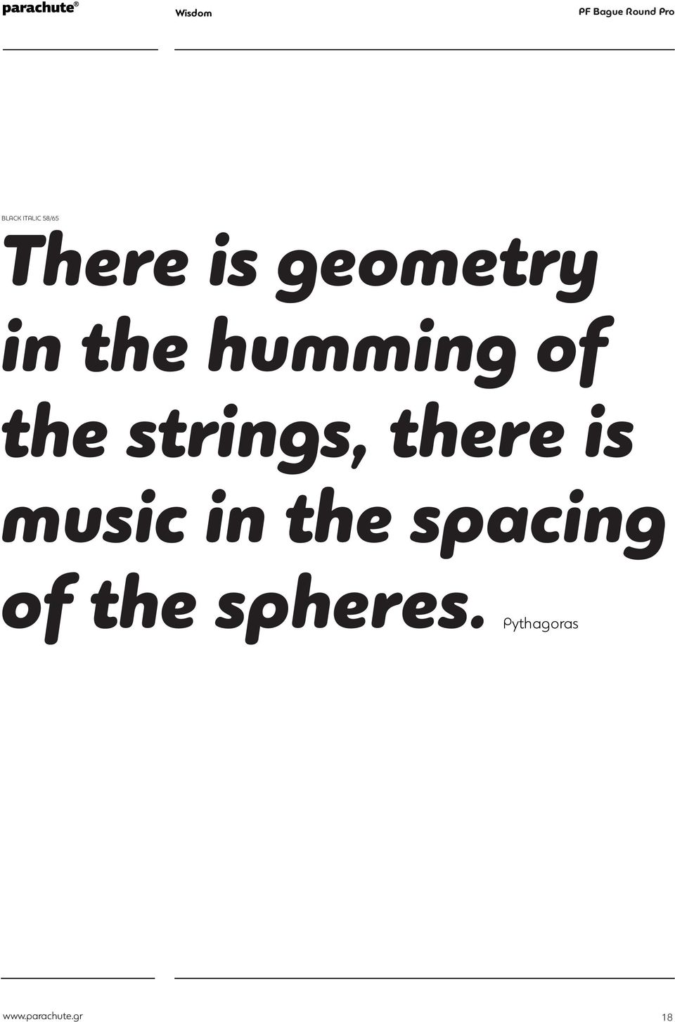 music in the spacing BLACK ITALIC