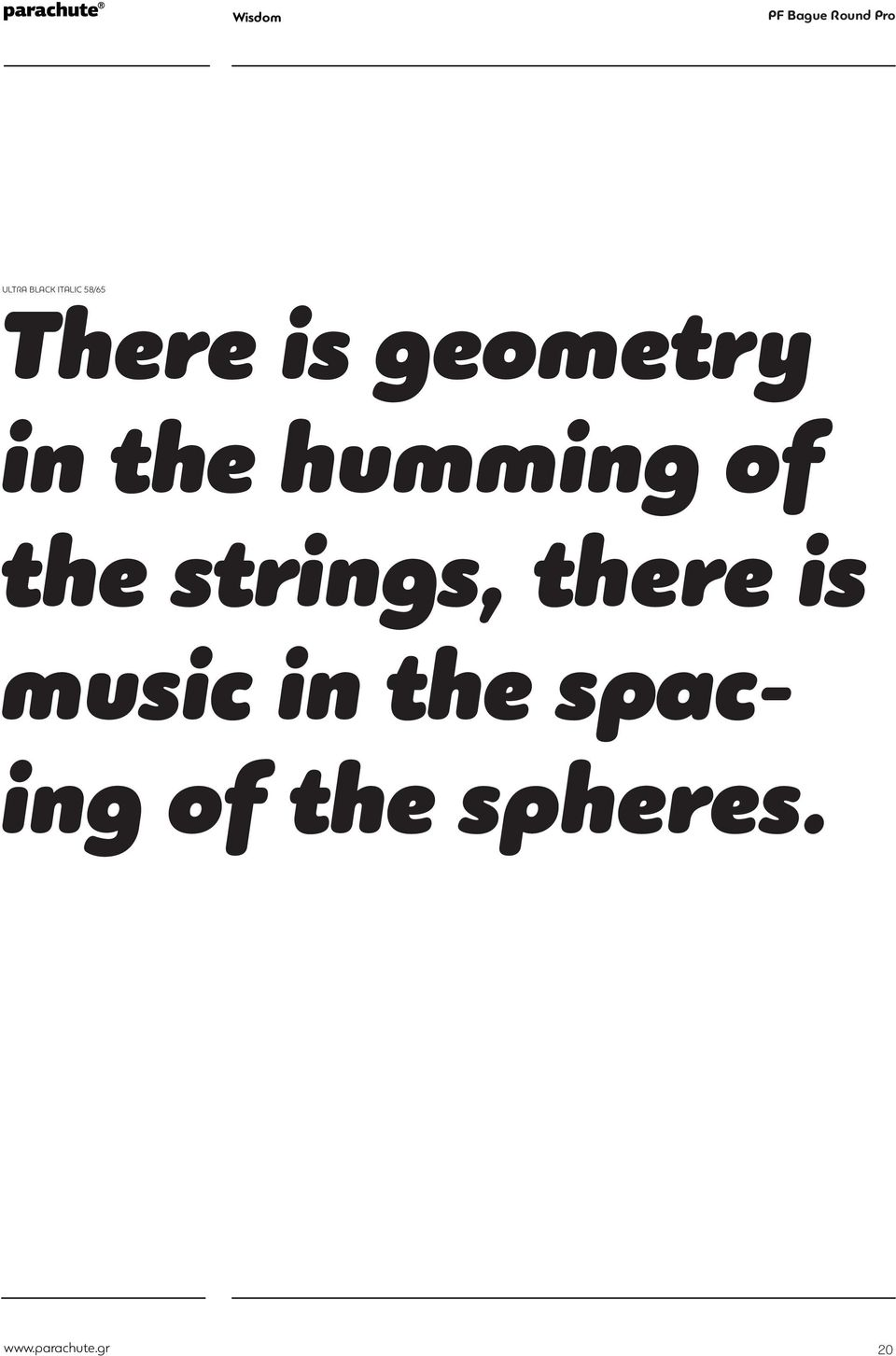 music in the spacing of the