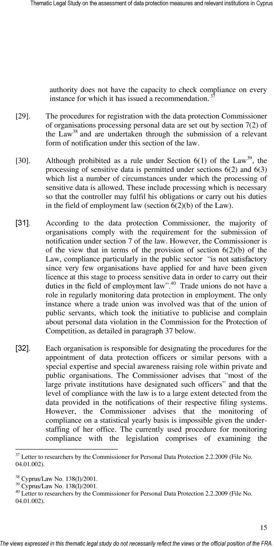 a relevant form of notification under this section of the law. [30].