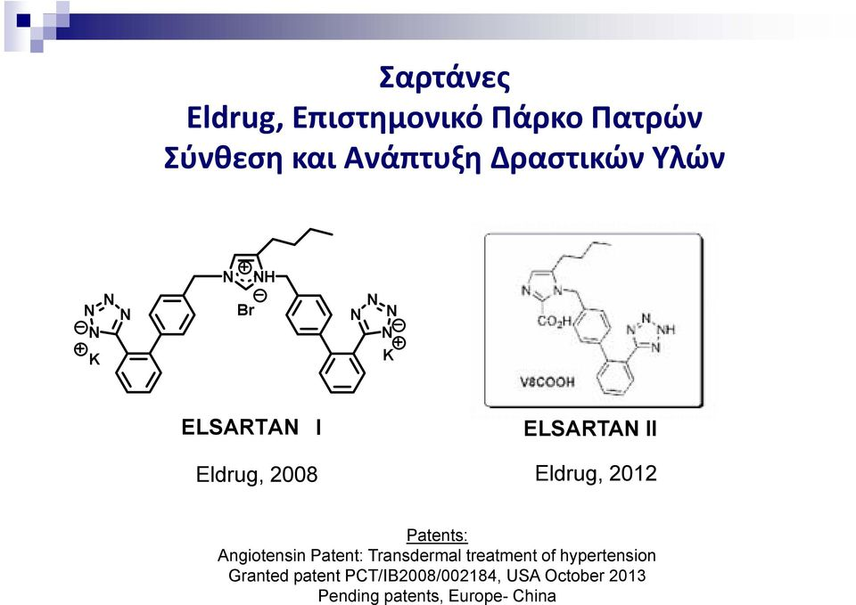Patents: Angiotensin Patent: Transdermal treatment of hypertension