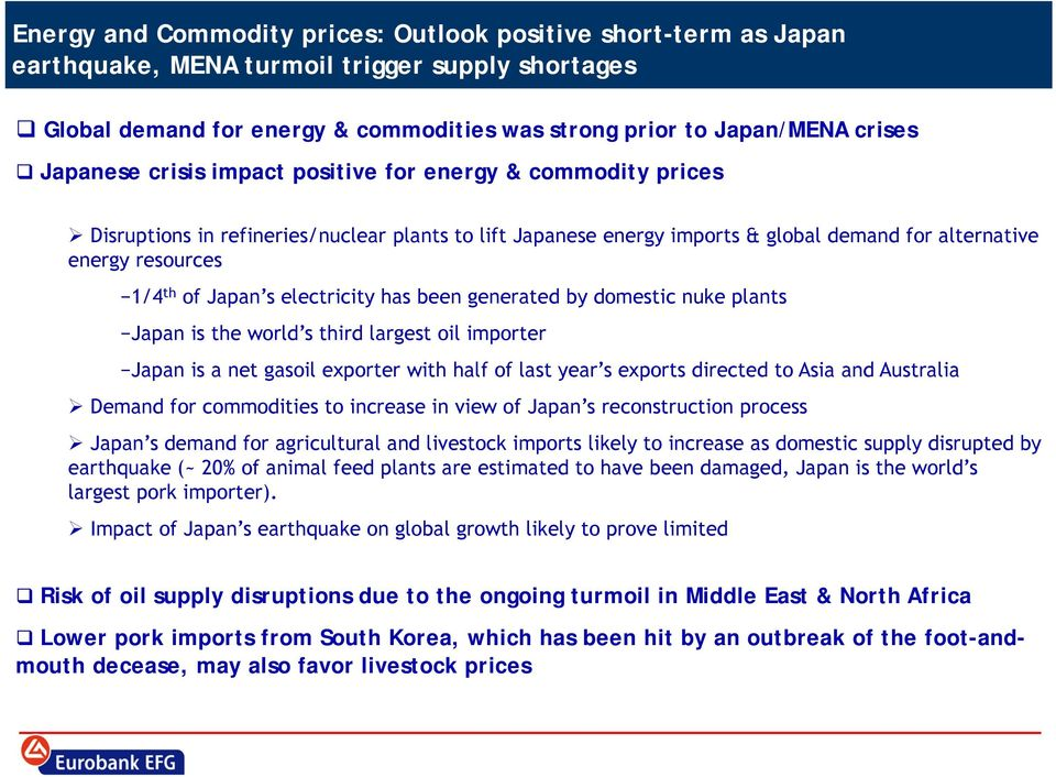 s electricity has been generated by domestic nuke plants Japan is the world s third largest oil importer Japan is a net gasoil exporter with half of last year s exports directed to Asia and Australia