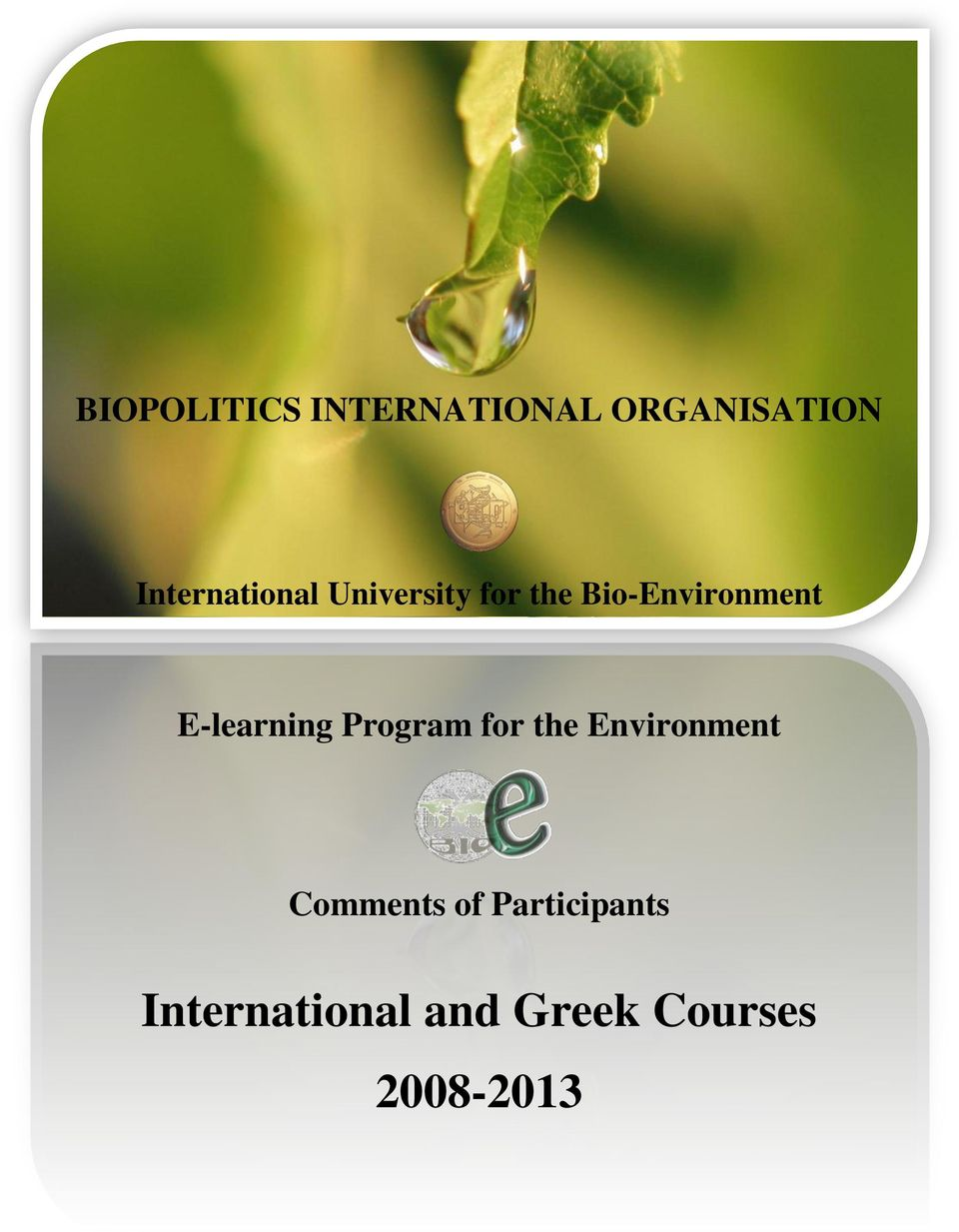 E-learning Program for the Environment Comments