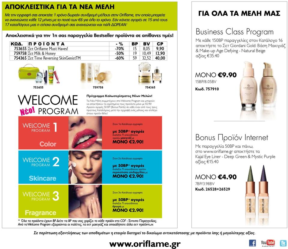 Π Ρ Ο Ϊ Ο Ν Τ Α - % BP BV CP 6 Σετ Oriflame Must Haves!