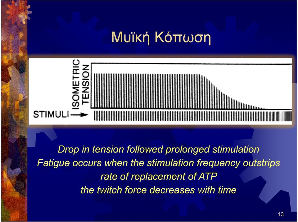 stimulation frequency outstrips rate of