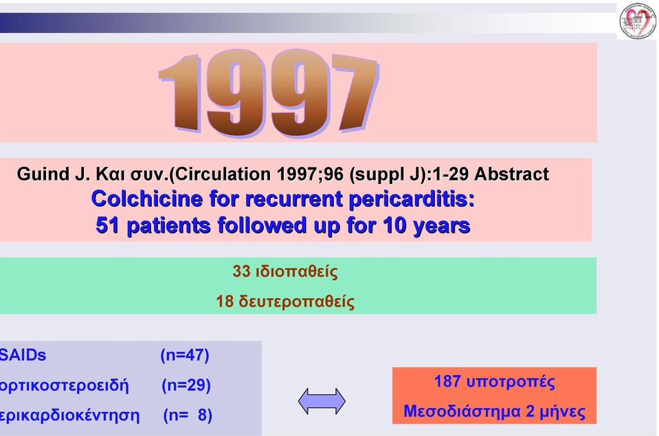 recurrent pericarditis: 51 patients followed up for 10 years 33