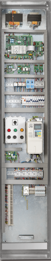 Control Panel-Serial Pre-wiring Metron offers EL.CO Smart MRL, control panel for traction elevators without machine room in cooperation with Sta.