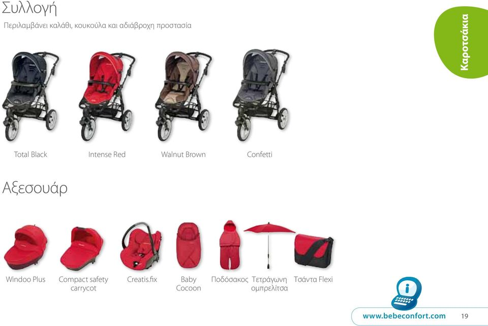 Plus Compact safety carrycot Creatis.