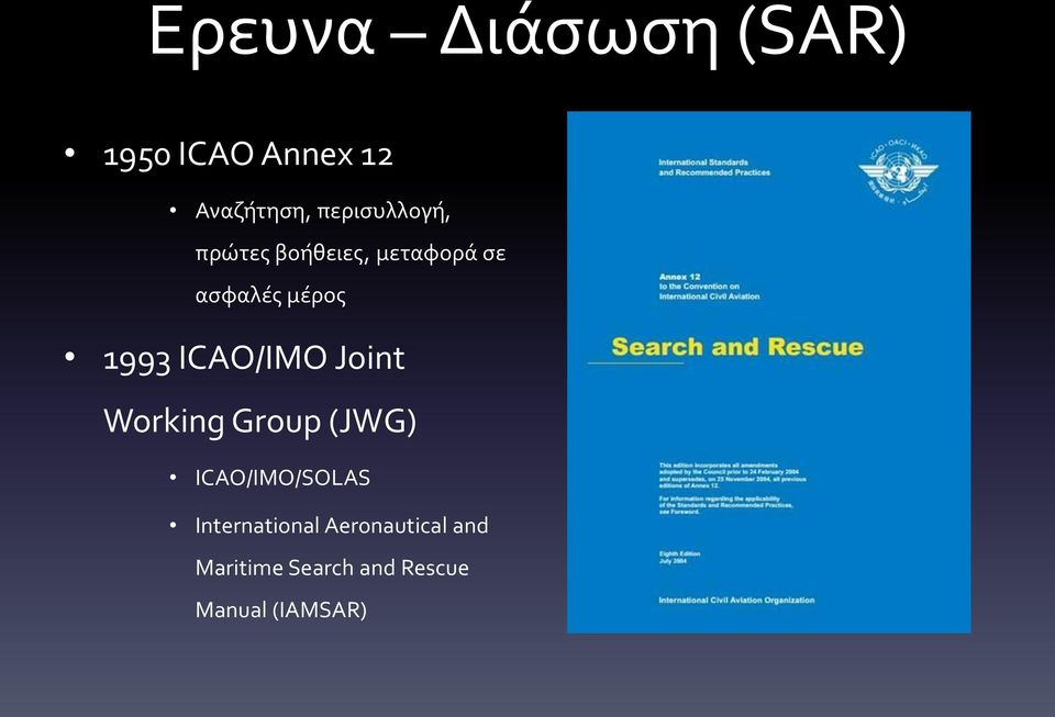 1993 ICAO/IMO Joint Working Group (JWG) ICAO/IMO/SOLAS