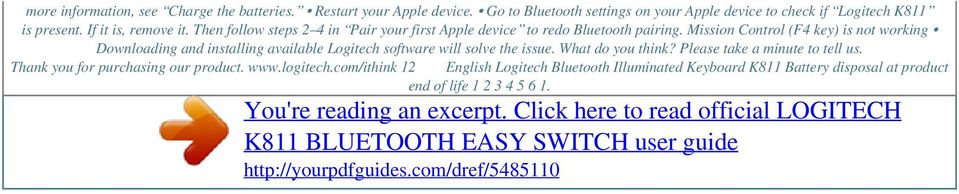 Then follow steps 2 4 in Pair your first Apple device to redo Bluetooth pairing.