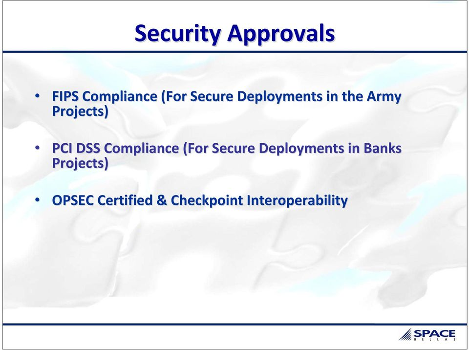 Compliance (For Secure Deployments in Banks