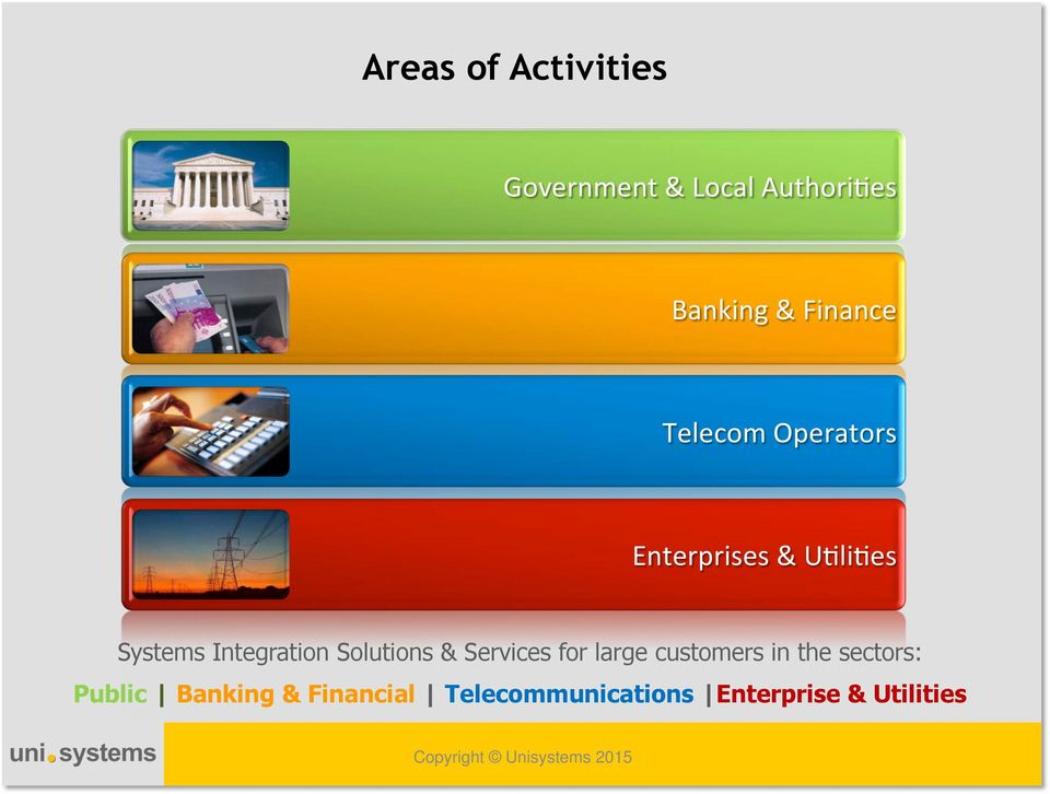& Services for large customers in the sectors: Public Banking &