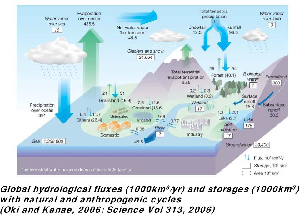 natural and anthropogenic cycles (Oki