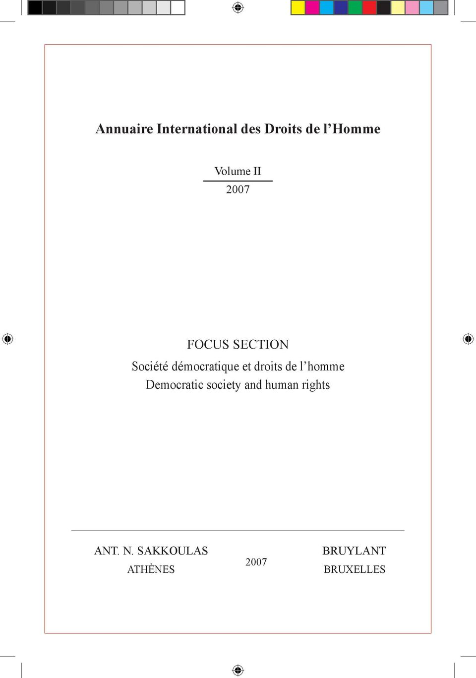 et droits de l homme Democratic society and human