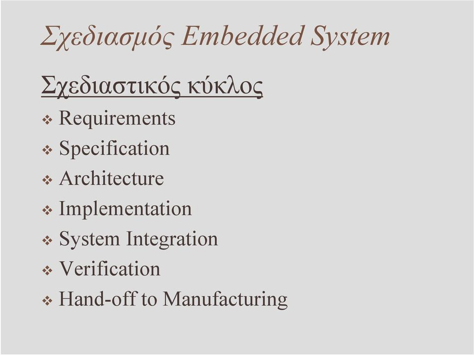 Architecture Implementation System