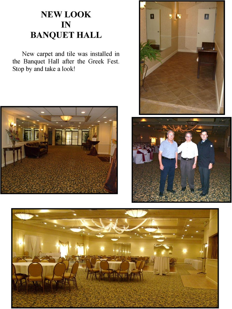 in the Banquet Hall after the