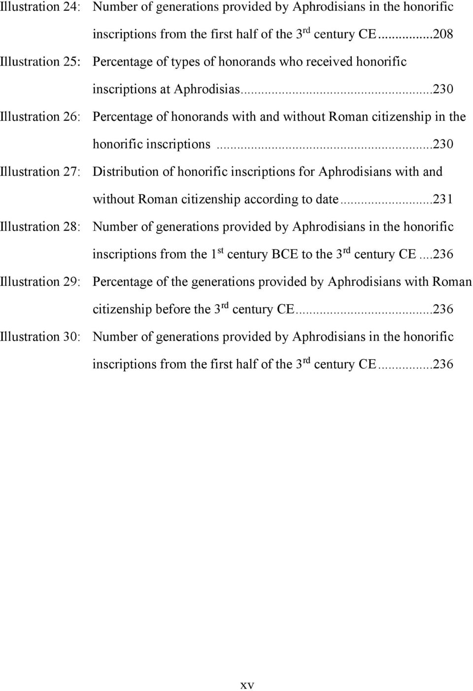 ..230 Illustration 26: Percentage of honorands with and without Roman citizenship in the honorific inscriptions.