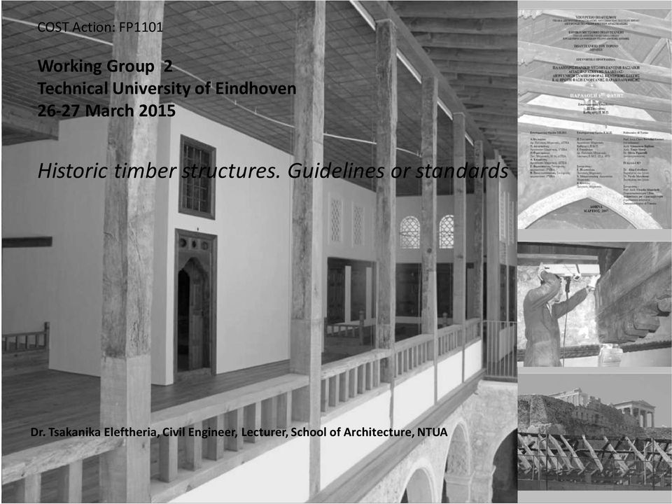 timber structures. Guidelines or standards Dr.