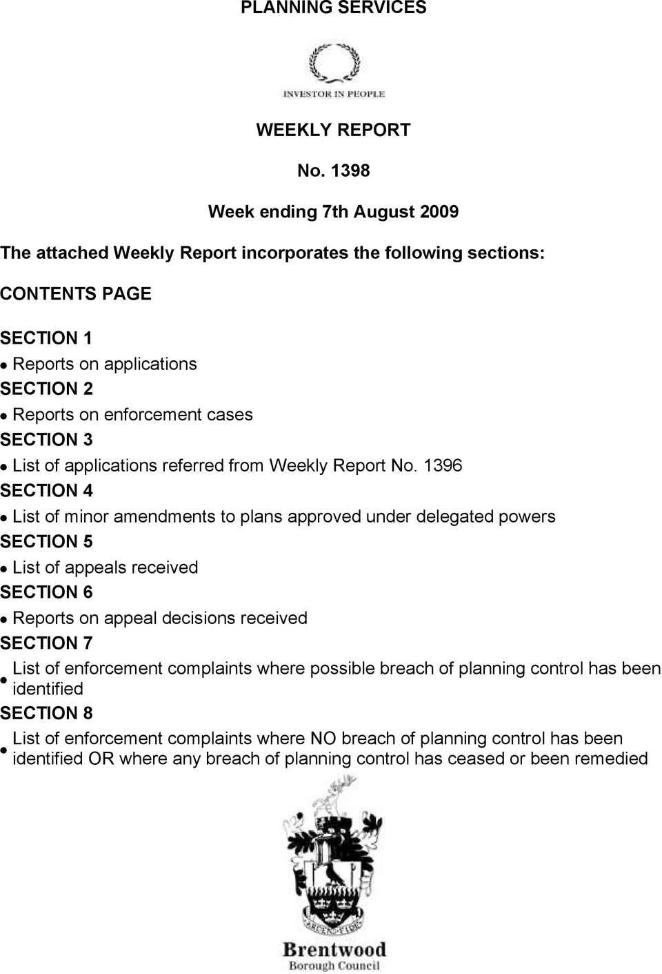 cases ΣΕΧΤΙΟΝ 3 List of applications referred from Weekly Report No.