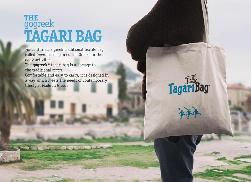The gogreek tagari bag is a homage to the traditional tagari.