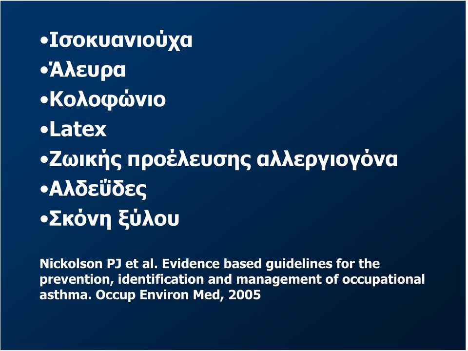 Evidence based guidelines for the prevention,
