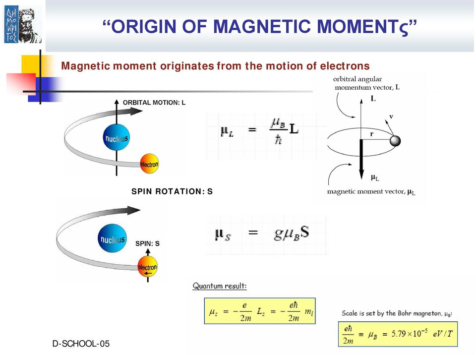 from the motion of electrons