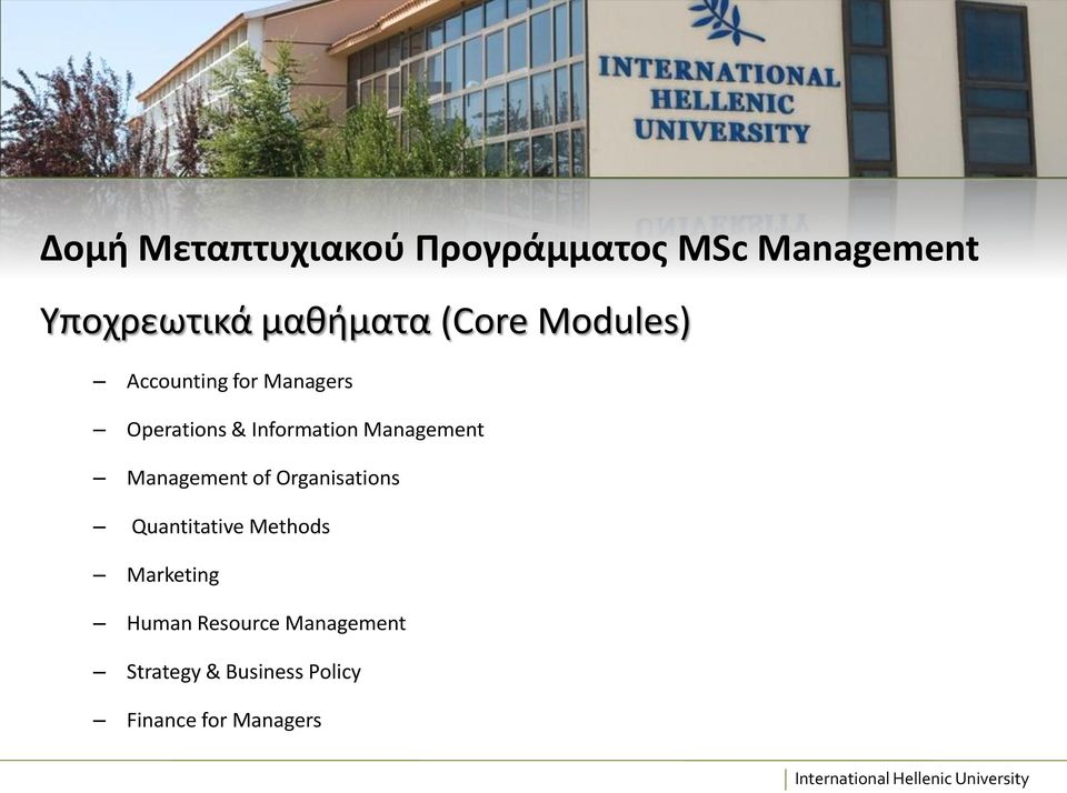 Management Management of Organisations Quantitative Methods