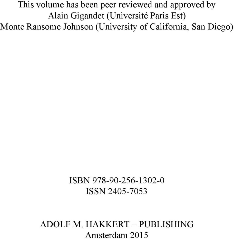 (University of California, San Diego) ISBN