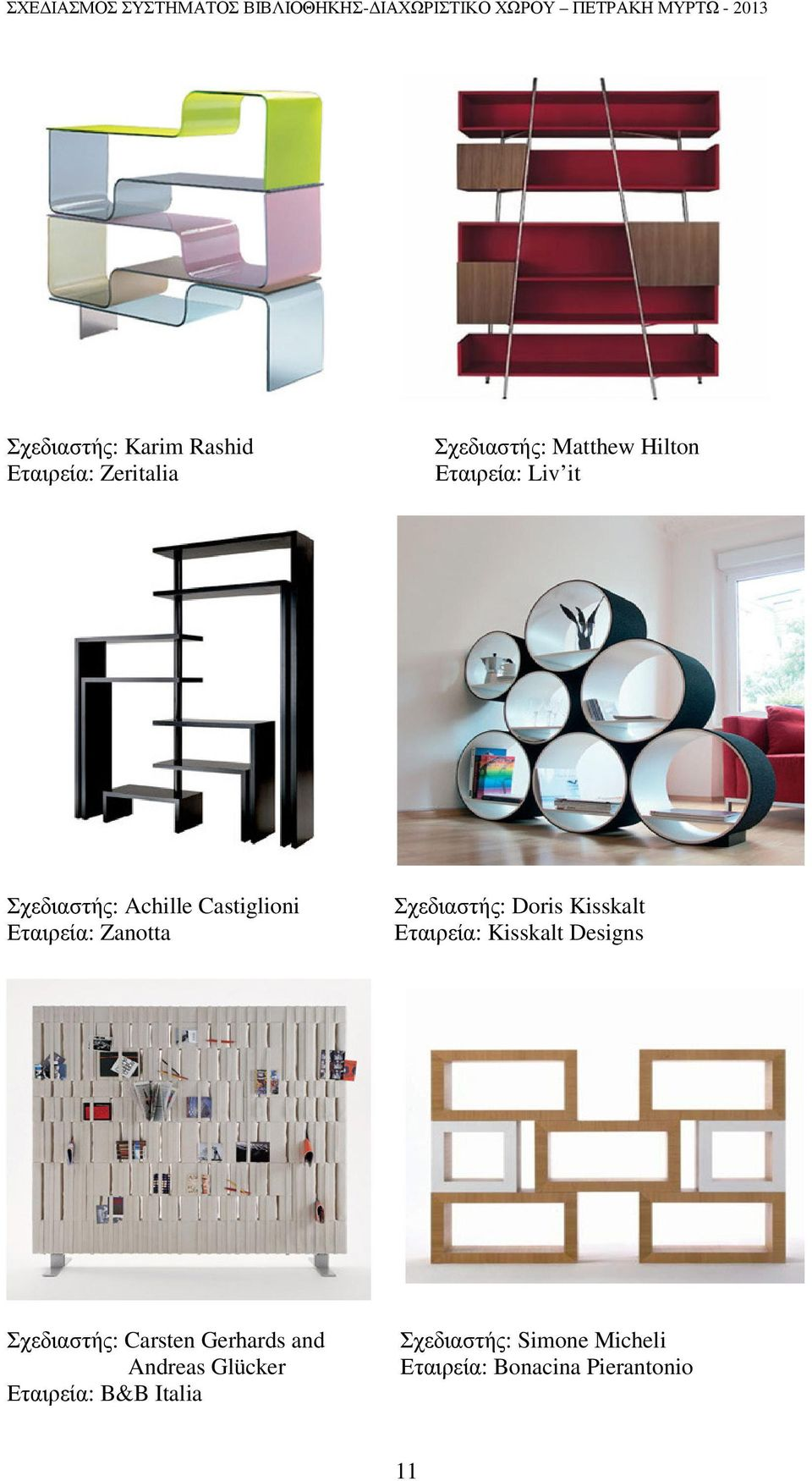 Doris Kisskalt Εταιρεία: Kisskalt Designs Σχεδιαστής: Carsten Gerhards and