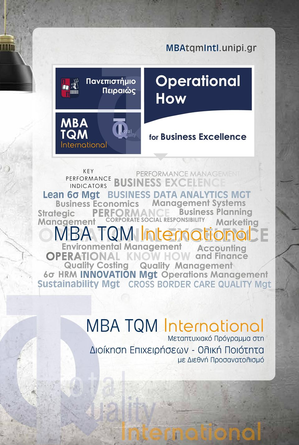 TQM International INNOVATION Mgt Sustainability Mgt CROSS BORDER CARE