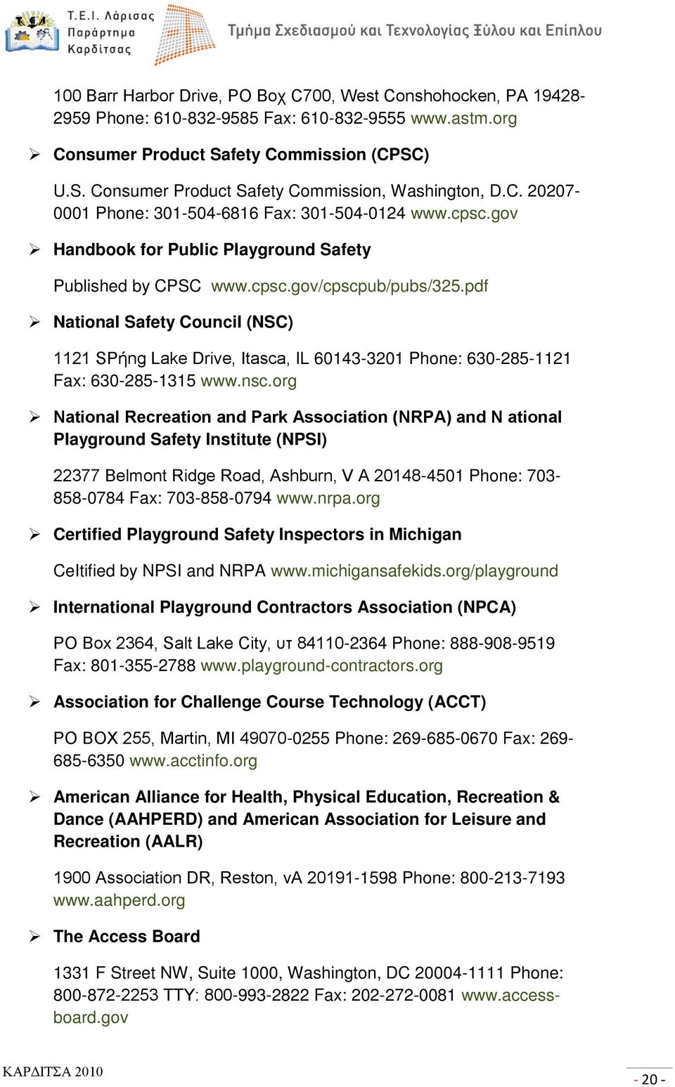 pdf NationaI Safety CounciI (NSC) 1121 SΡήng Lake Drive, Itasca, IL 60143-3201 Phone: 630-285-1121 Fax: 630-285-1315 www.nsc.