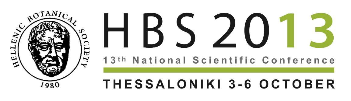 Hellenic Botanical Society 13 th Panhellenic Scientific Conference Program and Abstracts