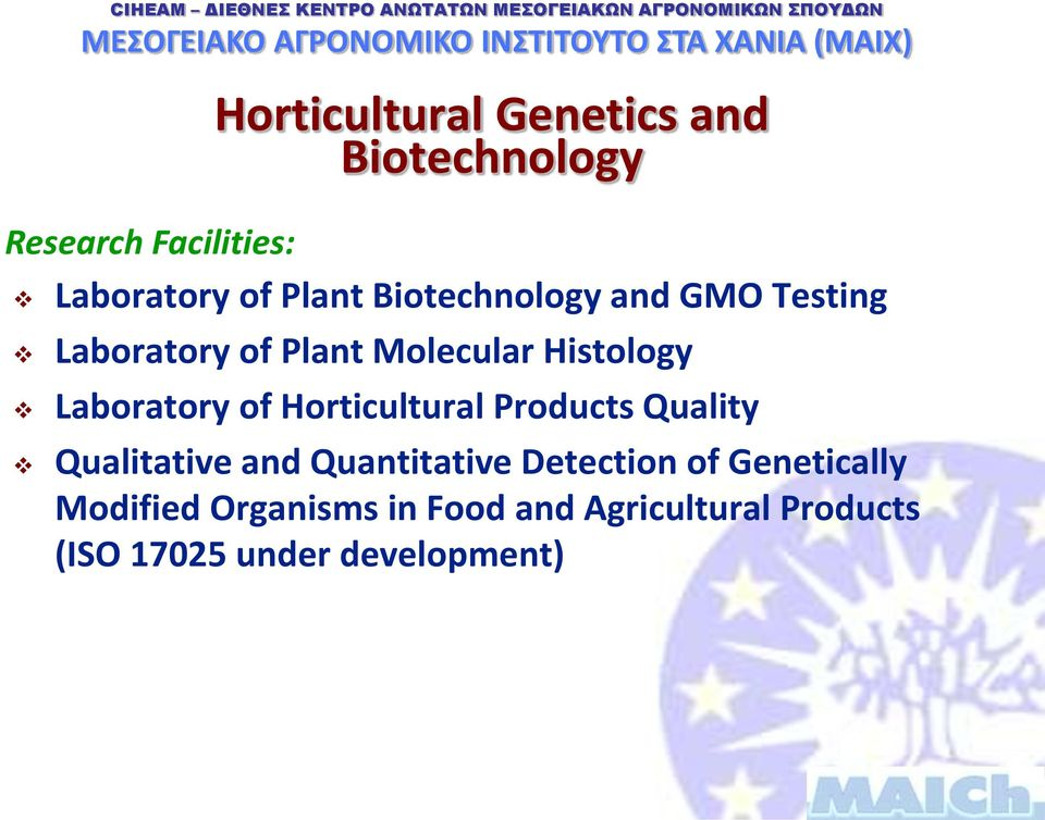 Horticultural Products Quality Qualitative and Quantitative Detection of