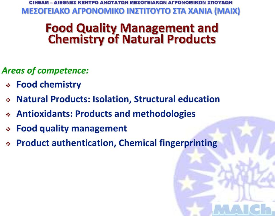 Structural education Antioxidants: Products and methodologies