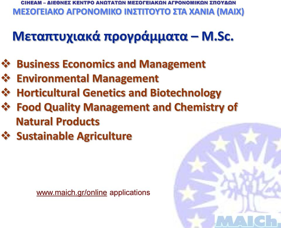 Horticultural Genetics and Biotechnology Food Quality