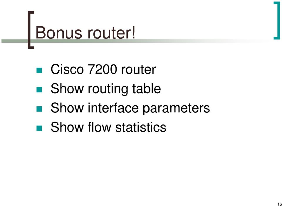 routing table Show