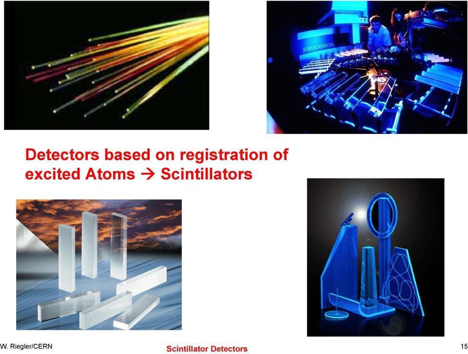 Atoms Scintillators W.
