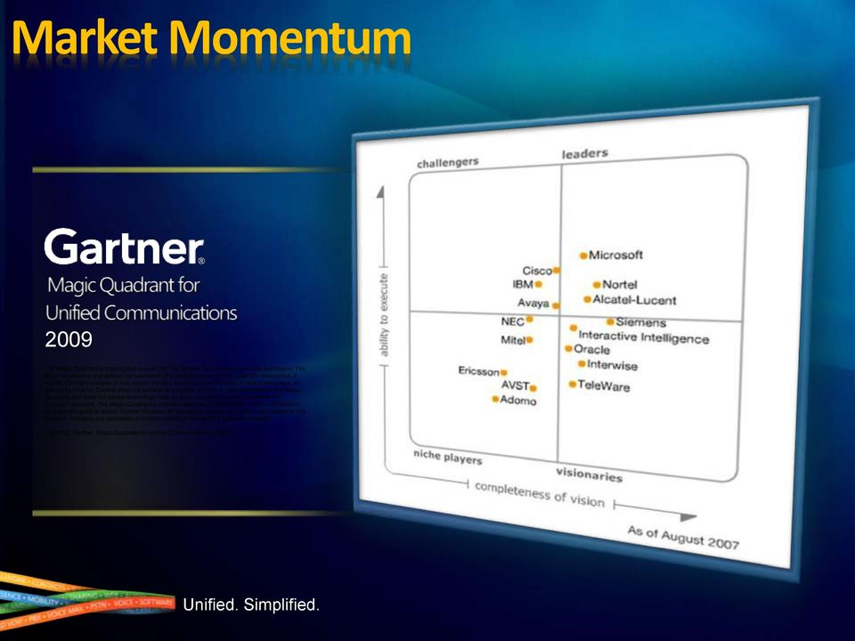 It depicts Gartner's analysis of how certain vendors measure against criteria for that marketplace, as defined by Gartner.