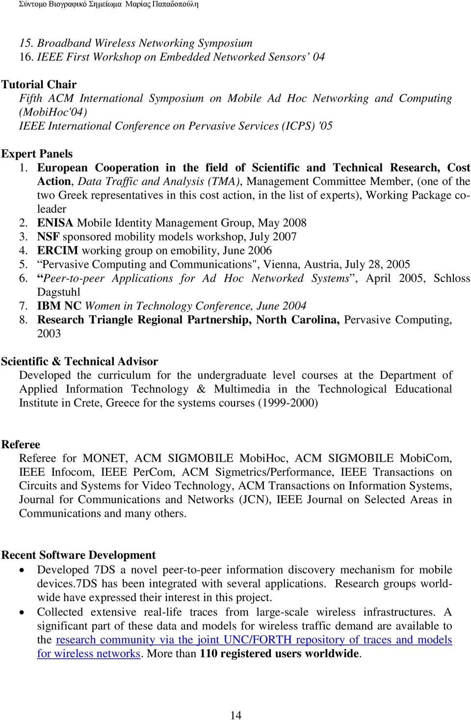 Services (ICPS) '05 Expert Panels 1.